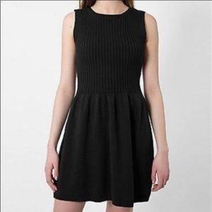 American Apparel Knit Rib Dress Black Size S